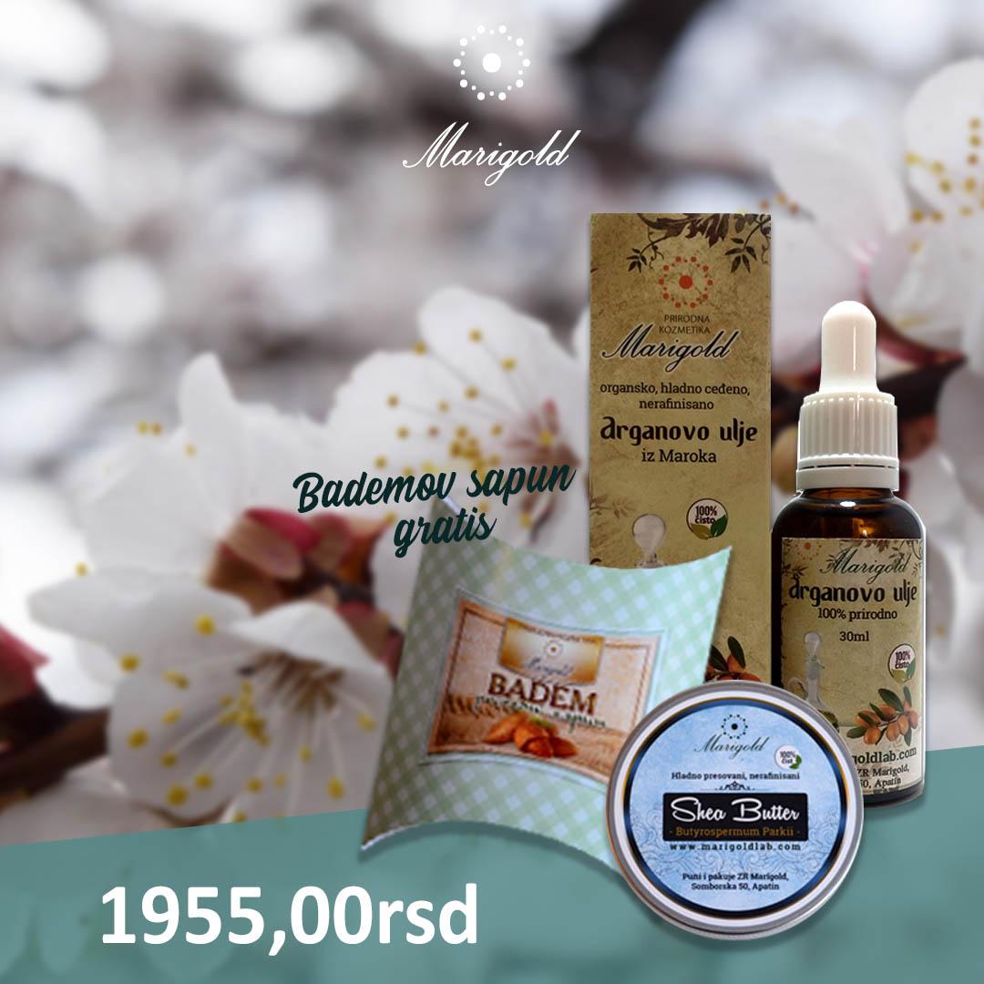 AKCIJA: Arganovo ulje, nerafinisani shea butter + bademov sapun gratis